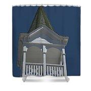 White Steeple Shower Curtain