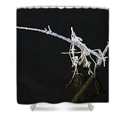 White Stick Shower Curtain