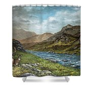 White Tail Meadow Shower Curtain