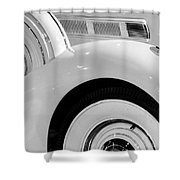 White Tails Shower Curtain