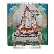 White Tara Chintamani Sita Tara Shower Curtain