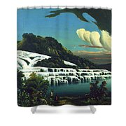 White Terraces, Rotomahana, By William Binzer. Shower Curtain