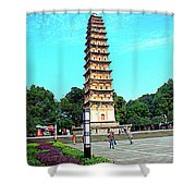 White Tower Shower Curtain