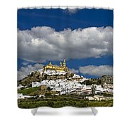 White Town Of Olvera, Andalusia, Spain Shower Curtain