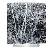 White Tree Black Night Shower Curtain