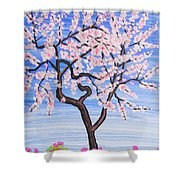 White Tree, Painting Shower Curtain