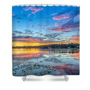 White Trout Lake Sunset - Tampa, Florida  Shower Curtain