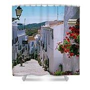 White Village Of Frigiliana Andalucia., Spain Shower Curtain
