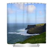 White Water At The Base Of The Cliff's Of Moher Shower Curtain