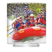 July In Oregon, White Water Rafting Shower Curtain