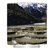 White Water River - Lijiang Shower Curtain