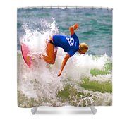 White Water Time Shower Curtain