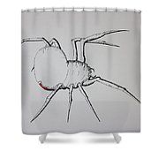 White Widow Shower Curtain