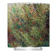 White Wildflowers-2 Shower Curtain