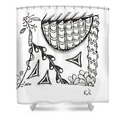 White Zen 15 Shower Curtain
