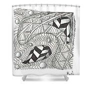 White Zen 18 Shower Curtain