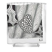 White Zen 19 Shower Curtain