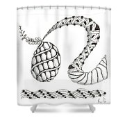 White Zen 20 Shower Curtain