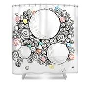 White Zen 22 Shower Curtain