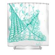 White Zen 26 Shower Curtain