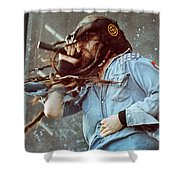 White Zombie 93-rob-0351 Shower Curtain