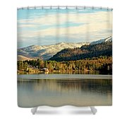 Whiteface Dusting Shower Curtain