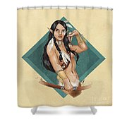 Whitefeather V.2 Shower Curtain by Brandy Woods