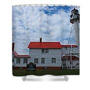 Whitefish Point Lighthouse I Shower Curtain