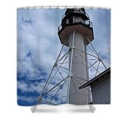 Whitefish Point Lighthouse II Shower Curtain