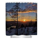 Whitefish Sunset Shower Curtain