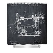 Whitehill Sewing Machine Patent 1885 Chalk Shower Curtain
