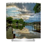 White's Cove Reflections Shower Curtain