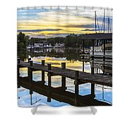 White's Cove Sunset Shower Curtain