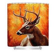 Whitetail Buck Portrait Shower Curtain
