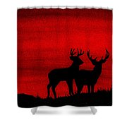 Whitetail Deer At Sunset Shower Curtain