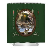 Whitetail Dreams Shower Curtain by Shane Bechler