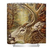 Whitetail Hideaway Shower Curtain