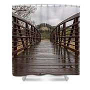 Whitewater Park Bridge Spring 4 Shower Curtain