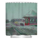 Whitewater Rail Station Shower Curtain