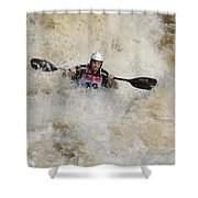 Whitewater Rider Shower Curtain