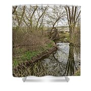 Whitewater River Spring 41 A Shower Curtain