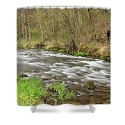Whitewater River Spring 44 Shower Curtain