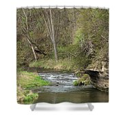 Whitewater River Spring 45 A Shower Curtain