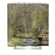 Whitewater River Spring 45 B Shower Curtain