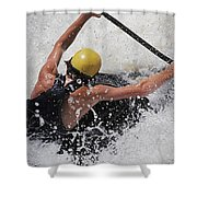 Whitewater Stretch Shower Curtain