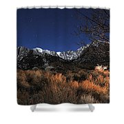 Whitney Campground View Shower Curtain
