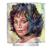 Whitney Houston Portrait Shower Curtain