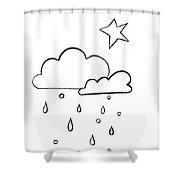 Whitr Sky Shower Curtain