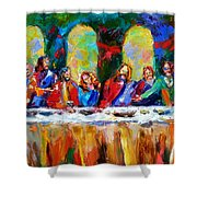 Who Among Us Shower Curtain by Debra Hurd