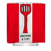 Who Gives A Flip Shower Curtain